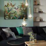 nowoczesne-lampy-wiszące-do-sypialni-złote